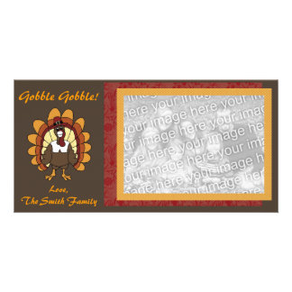 GOBBLE GOBBLE PHOTO CARD TEMPLATE