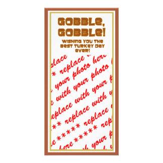 GOBBLE GOBBLE Text Design Photo Cards