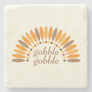 Gobble Gobble Thanksgiving Stone Coaster