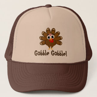 Gobble Gobble Thanksgiving turkey Holiday party Trucker Hat
