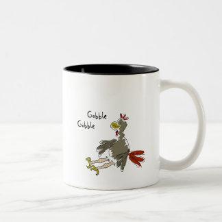 Gobble Gobble Two-Tone Coffee Mug