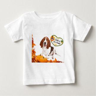 Gobble til you Wobble Thanksgiving Basset T-shirts