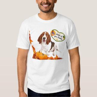 Gobble til you Wobble Thanksgiving Basset Tshirt