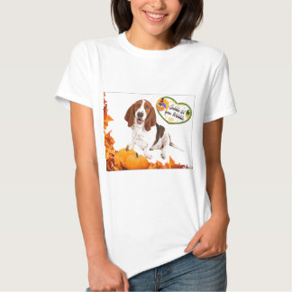 Gobble til you Wobble Thanksgiving Basset Tshirts