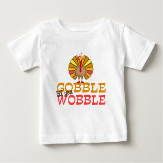 Gobble Til You Wobble Turkey Tshirts