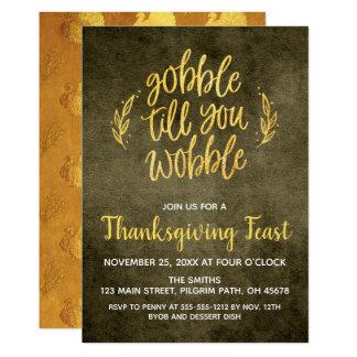 Gobble Till You Wobble Thanksgiving Card