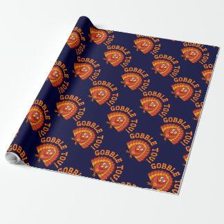 Gobble Tov Thanksgivukkah Turkey Wrapping Paper