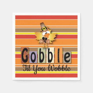 Gobble Turkey Disposable Napkins