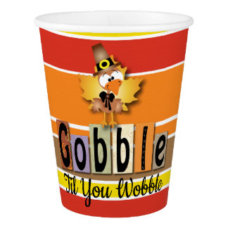 Gobble Turkey Paper Cup