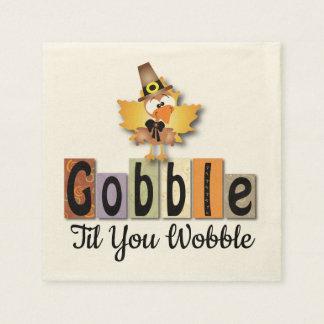 Gobble Turkey Paper Napkin