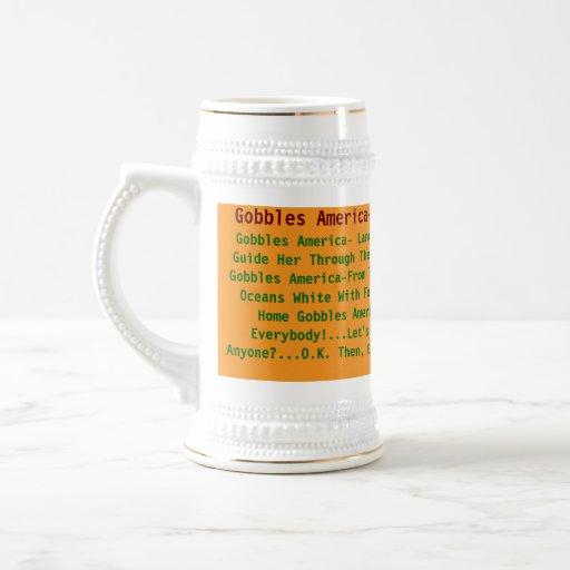 Gobbles America_Oceans White With Foam Mug
