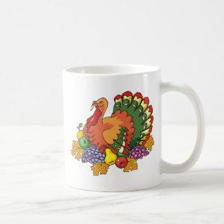 Gobbling turkey mug