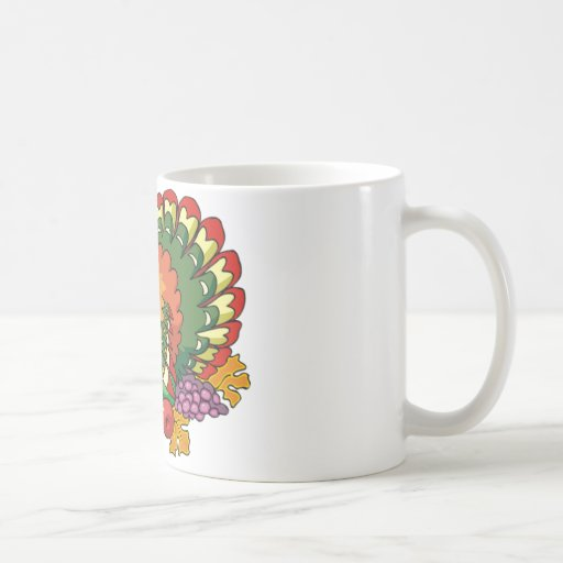 Gobbling turkey mugs