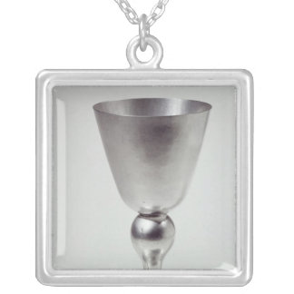 Goblet or wine cup, South American Silver Plated Necklace