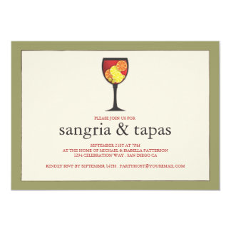 Goblet with Fruit Sangria & Tapas Party Invitation