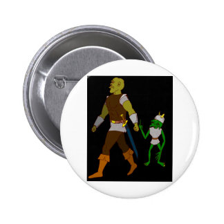 Goblin and Orc (black or white background) 6 Cm Round Badge