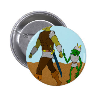 Goblin and Orc (landscape) 6 Cm Round Badge