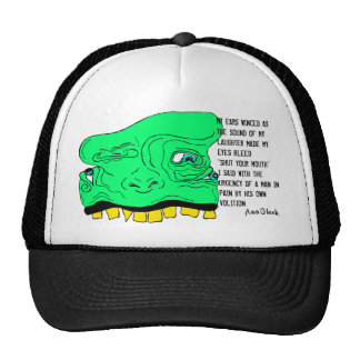 Goblin FACE HAT w/ Poem