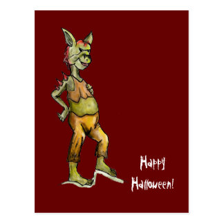 Goblin Halloween Postcard