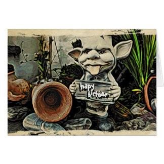 Goblin Placard Hapy Birfdae Greeting Card