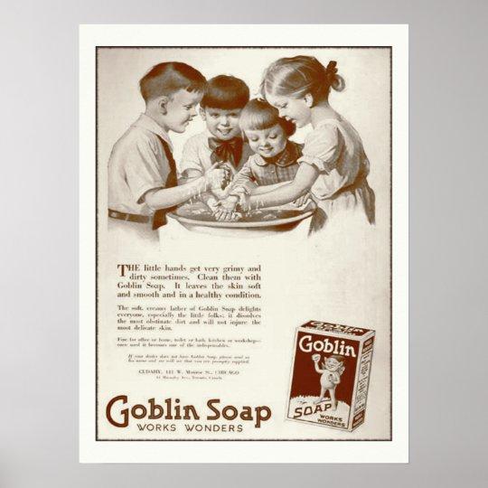 Goblin Soap Vintage Magazine Ad Retro Poster