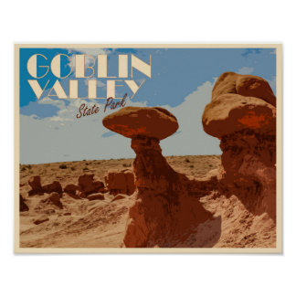 Goblin Valley State Park Stylised Poster