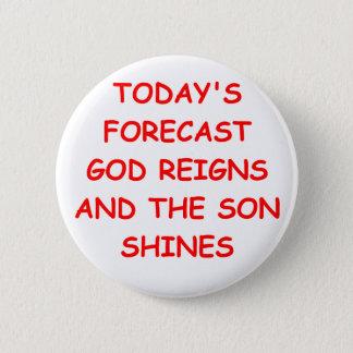 GOD 6 CM ROUND BADGE