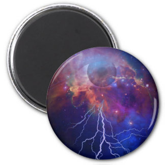 God 6 Cm Round Magnet