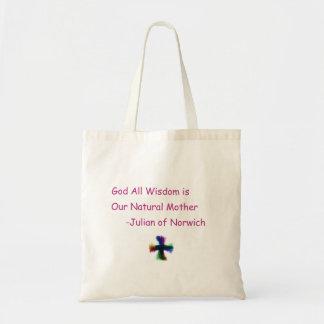 God All Wisdom Budget Tote Bag