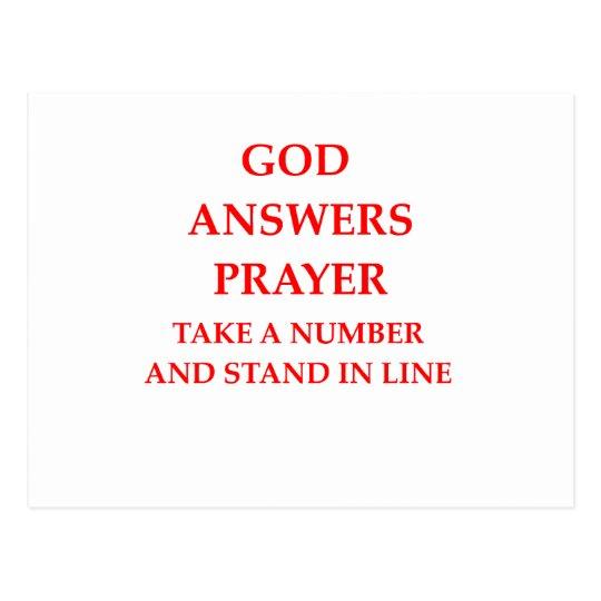 GOD answer prayer Postcard