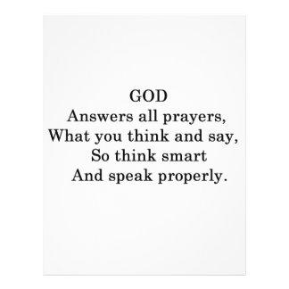 GOD ANSWERS ALL  PRAYERS 21.5 CM X 28 CM FLYER