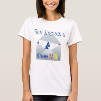 God Answers Knee Mail Faith Tee