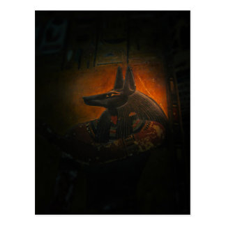 God Anubis in Seti I's tomb in the King's Valley Postcard