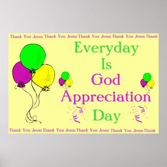 God Appreciation Day Poster