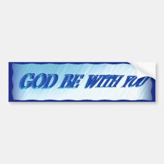 GOD BE WITH YOU-BUMPER STICKER BUMPER STICKER