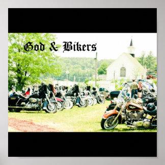 God & Bikers Posters