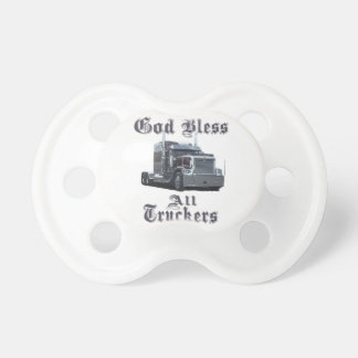 God Bless All Truckers Pacifier