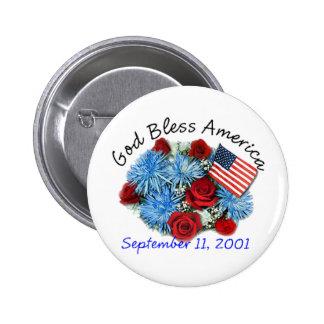 God Bless America, 9/11 Memorial Button