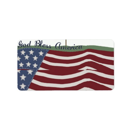 God Bless America Address Label