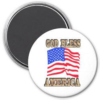 God Bless America American Flag Magnet