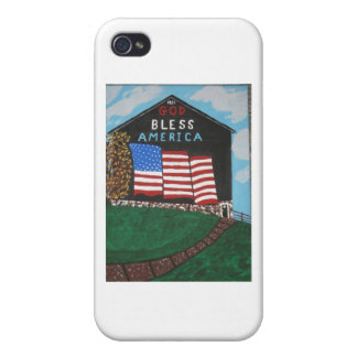 God Bless America Barn Cases For iPhone 4
