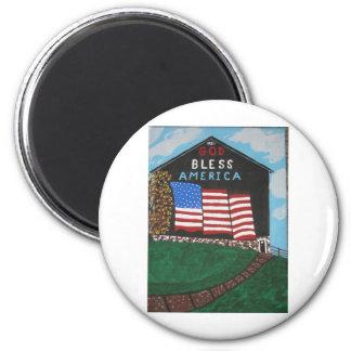 God Bless America Barn Magnets