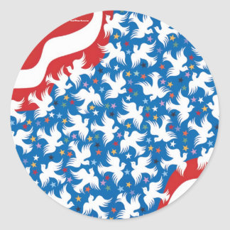 God Bless America by Metin Classic Round Sticker