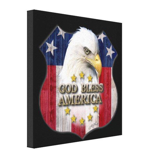 God Bless America Canvas Print