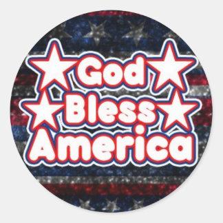 God Bless America Classic Round Sticker