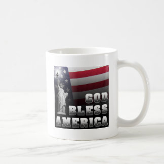 God Bless America Classic White Coffee Mug