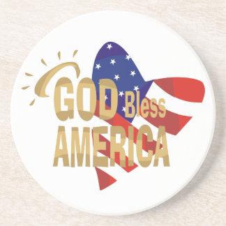 God Bless America coasters