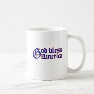 GOD BLESS AMERICA COFFEE CUP