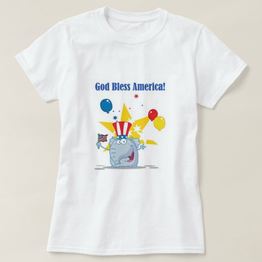 God Bless America Elephant T-Shirt
