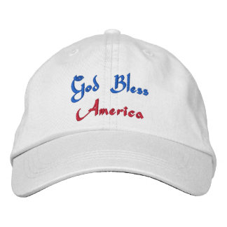God Bless America Embroidered Cap